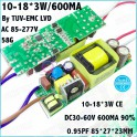Драйвер для светодиодов 600ма 54 Вт безкорпусной
